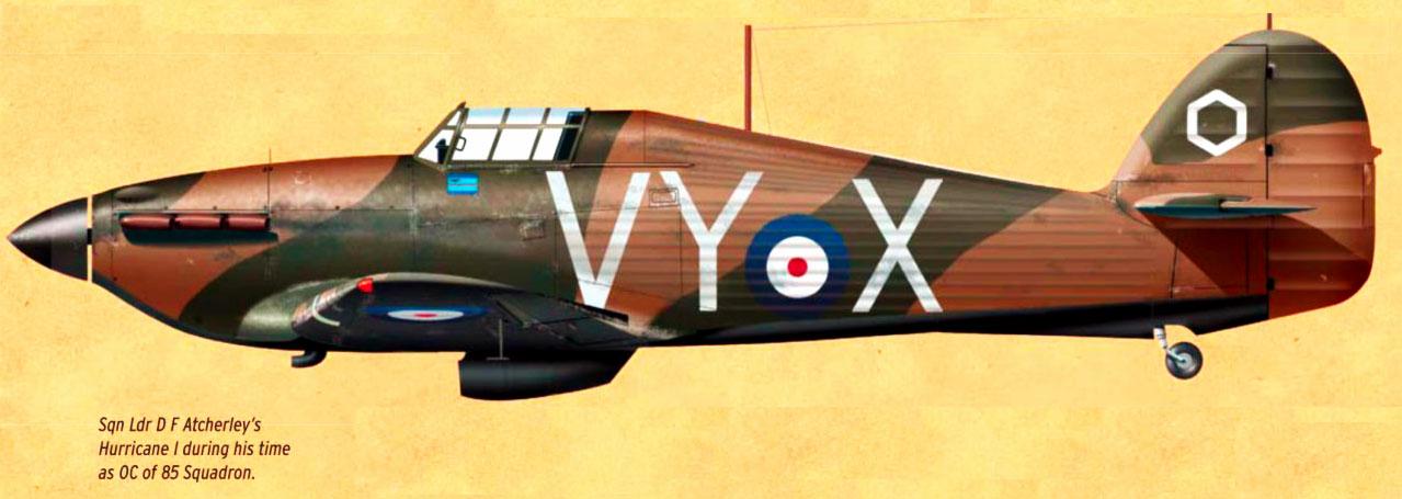 Hawker Hurricane I RAF 85Sqn VYX D F Atcherley OC England 1940 0A