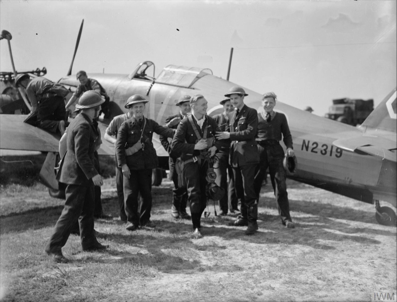 Hurricane I RAF 85Sqn VYP N2319 at Lille Seclin France 10 May 1940 IWM C1512