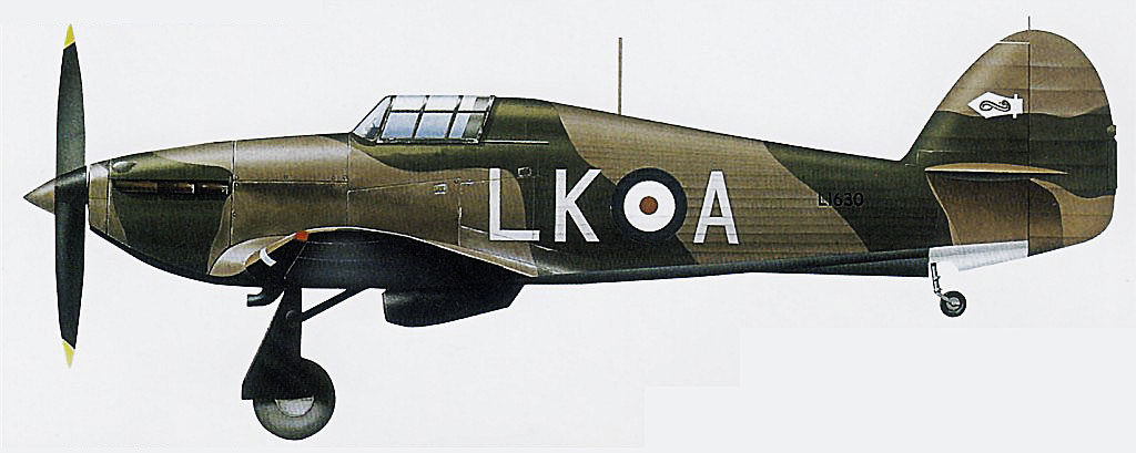 Hawker Hurricane I RAF 87Sqn LKA L1630 Lille France 1940 0A
