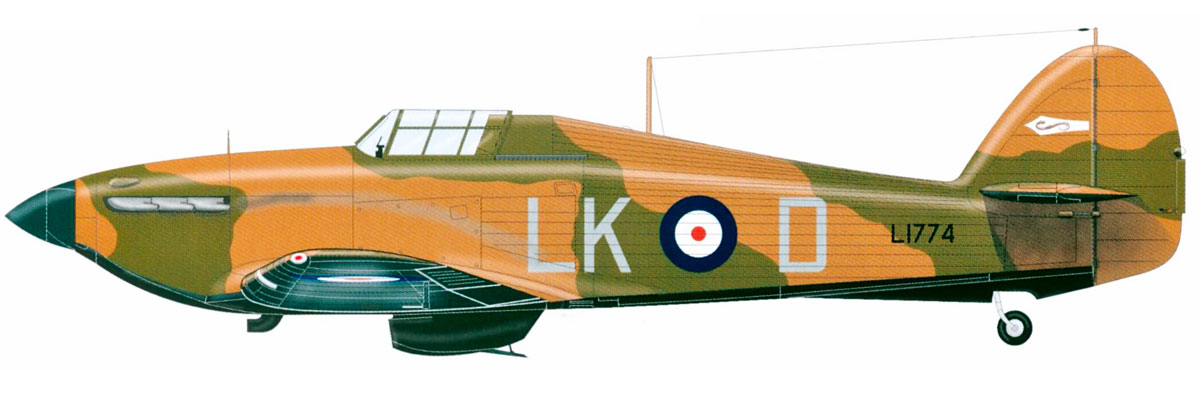 Hawker Hurricane I RAF 87Sqn LKD L1774 Lille France 1940 0A