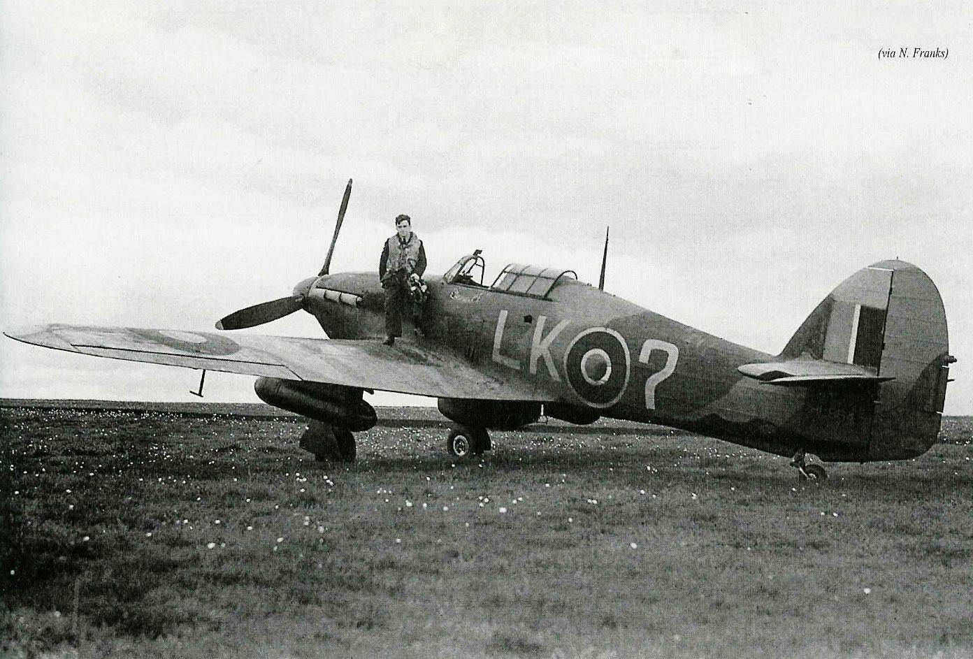 Hurricane IIc RAF 87Sqn LK Question Nightingale PO Frank Mitchell HL864 England 1941 01