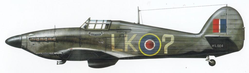 Hurricane IIc RAF 87Sqn LK7 HL864 0A