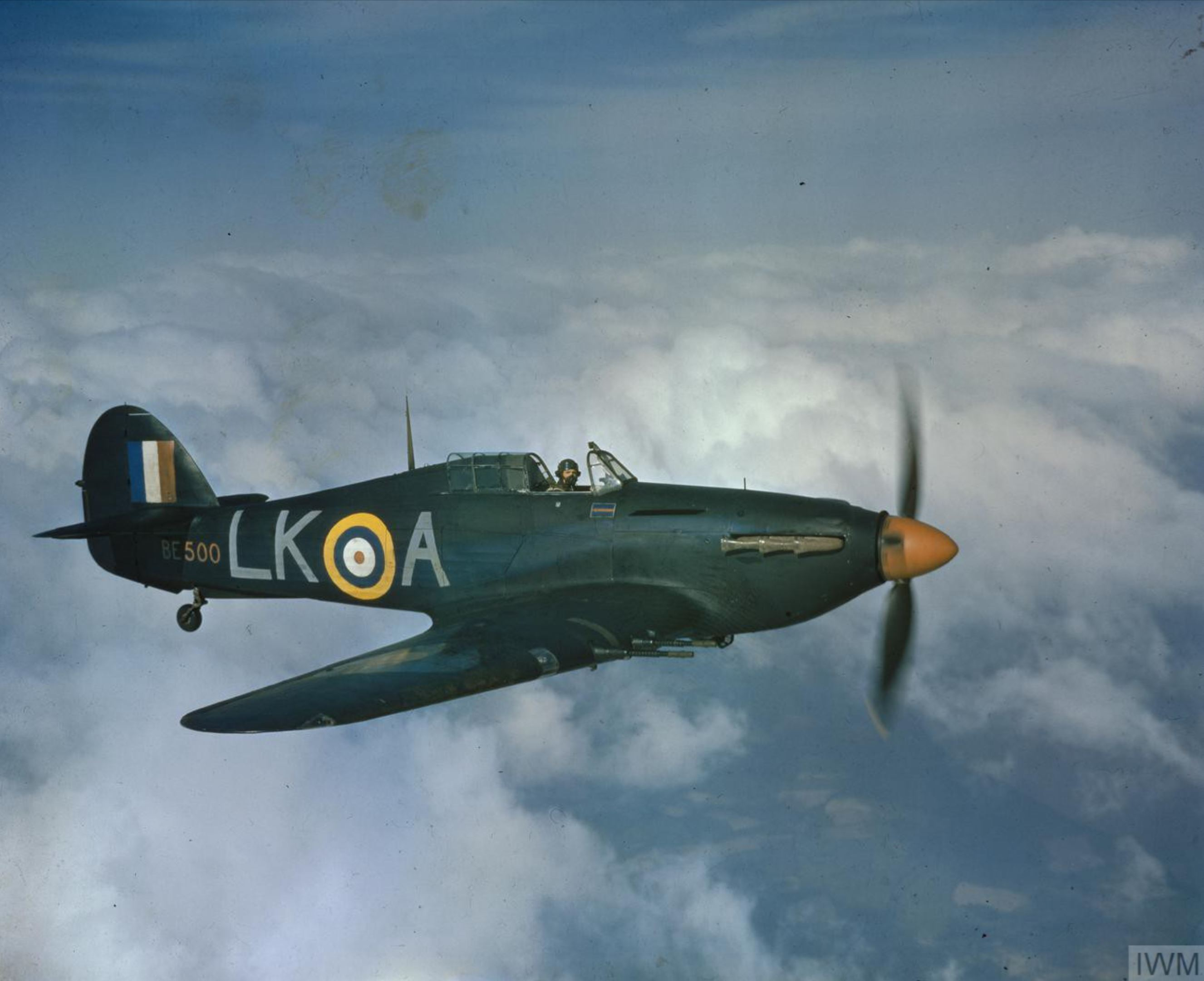 Hurricane IIc RAF 87Sqn LKA Dennis Smallwood BE500 Charmy Down Somerset IWM COL186