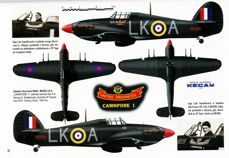 Hurricane IIc RAF 87Sqn LKA Ian Gleed BE500 England 1941 0A