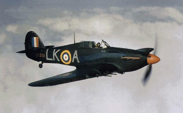 Hurricane IIc RAF 87Sqn LKA Ian Gleed BE500 England late 1940 01