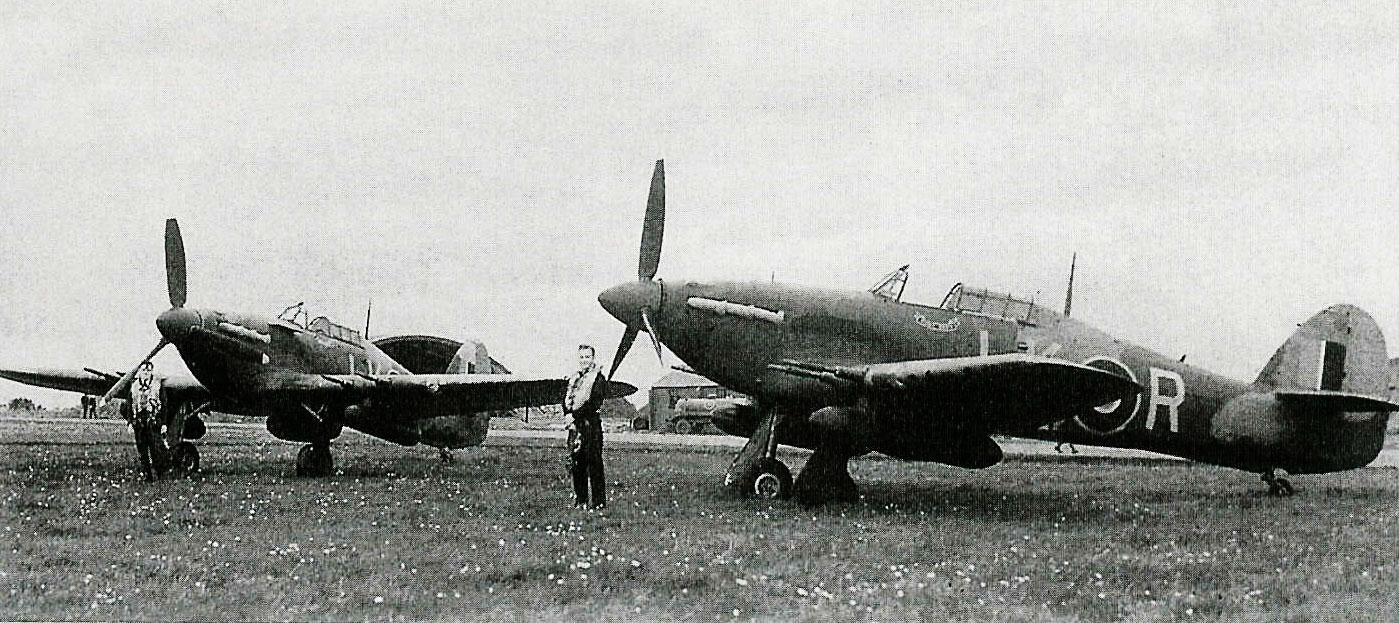 Hurricane IIc RAF 87Sqn LKR Night Duty Z3353 England 1941 02