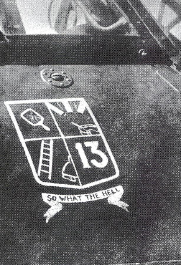 Hurricane personal emblem RAF 87Sqn DH Ward RNZAF Battle of Braitain 1940 01