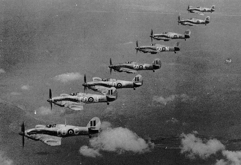 Hawker Hurricane IIc Trop RAF 94Sqn GO formation North Africa 1942 01