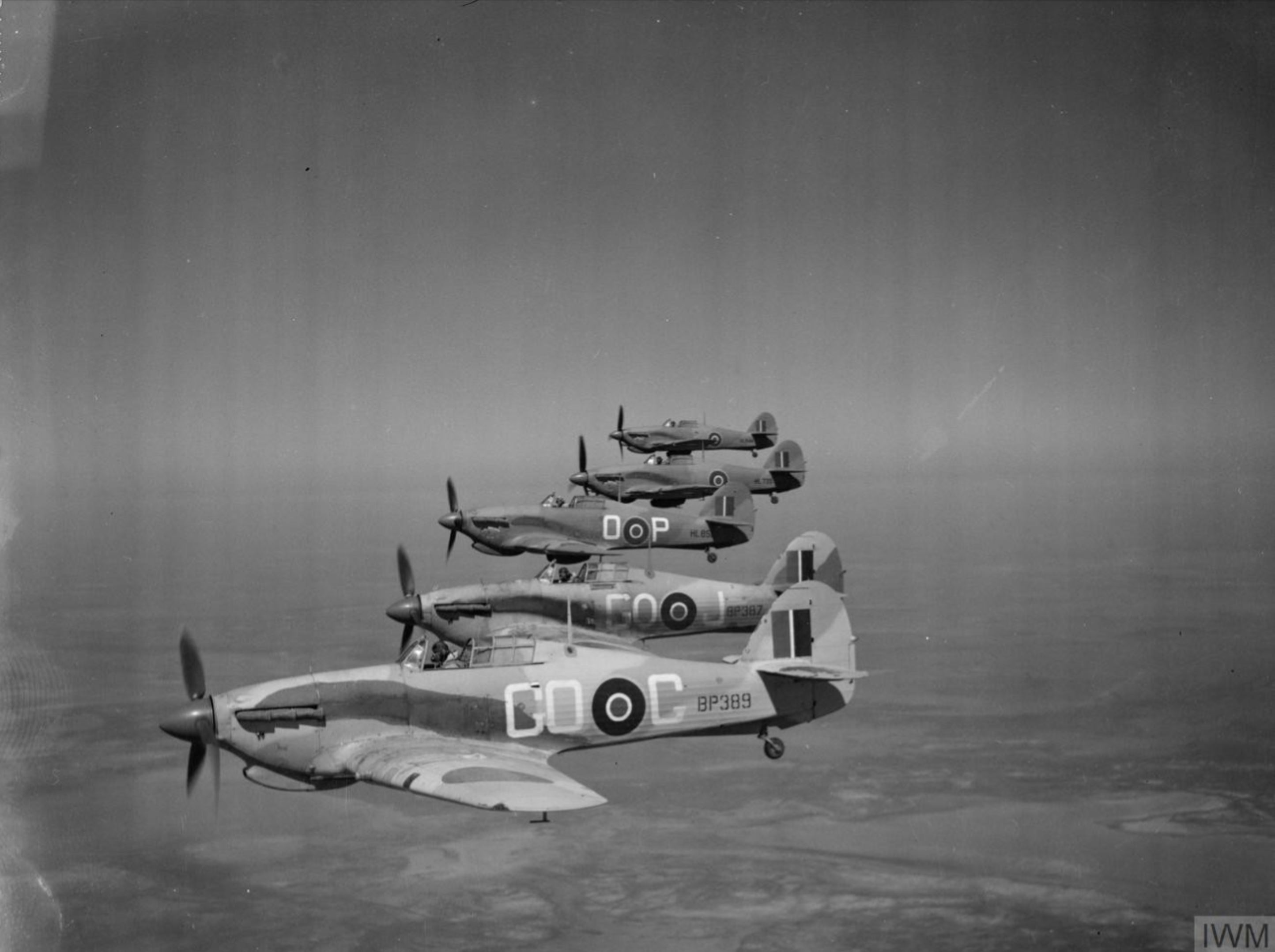 Hawker Hurricane IIc Trop RAF 94Sqn GOP HL851 North Africa 1942 IWM CM3653