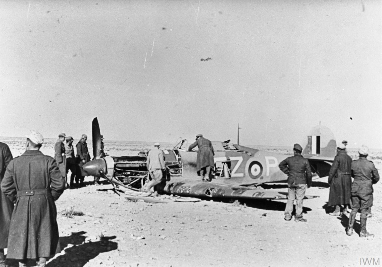 Hurricane IIc RAF 94Sqn FZP shot down over North Africa 1942 IWM MH6446