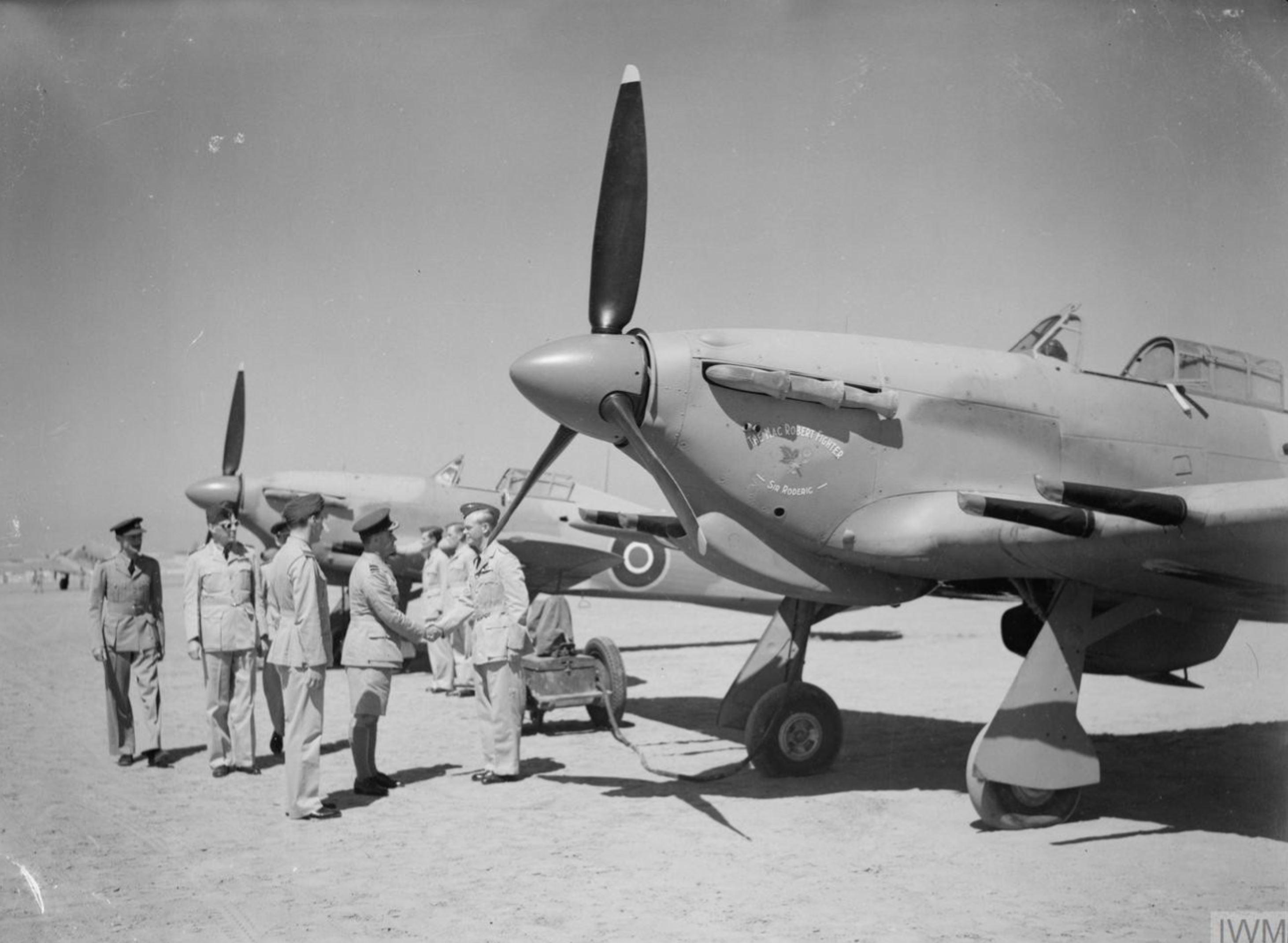 Hurricane IIc RAF 94Sqn HL735 at El Gamil Egypt IWM CM3520