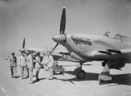 Asisbiz Hurricane IIc RAF 94Sqn HL735 at El Gamil Egypt IWM CM3520