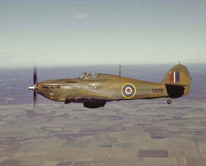 Canadian built Hurricane 5625 used by the RCAF as a trainer 1943 01