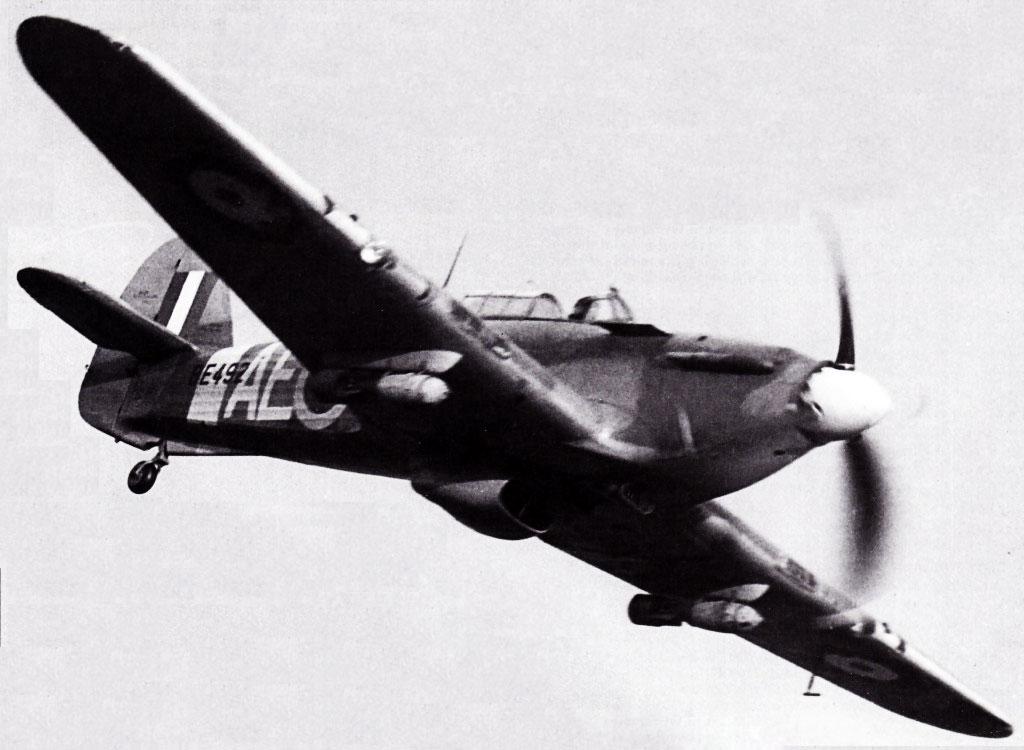 Hurricane IIb RCAF 402Sqn AE BE492 loaded with 250lb bombs 1941 01