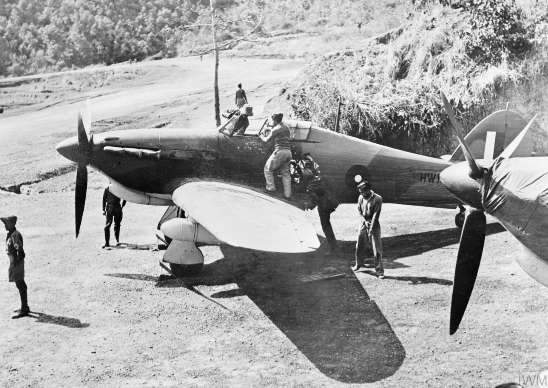 Hurricane IIb RIAF 1Sqn at Imphal Main India IWM CF110