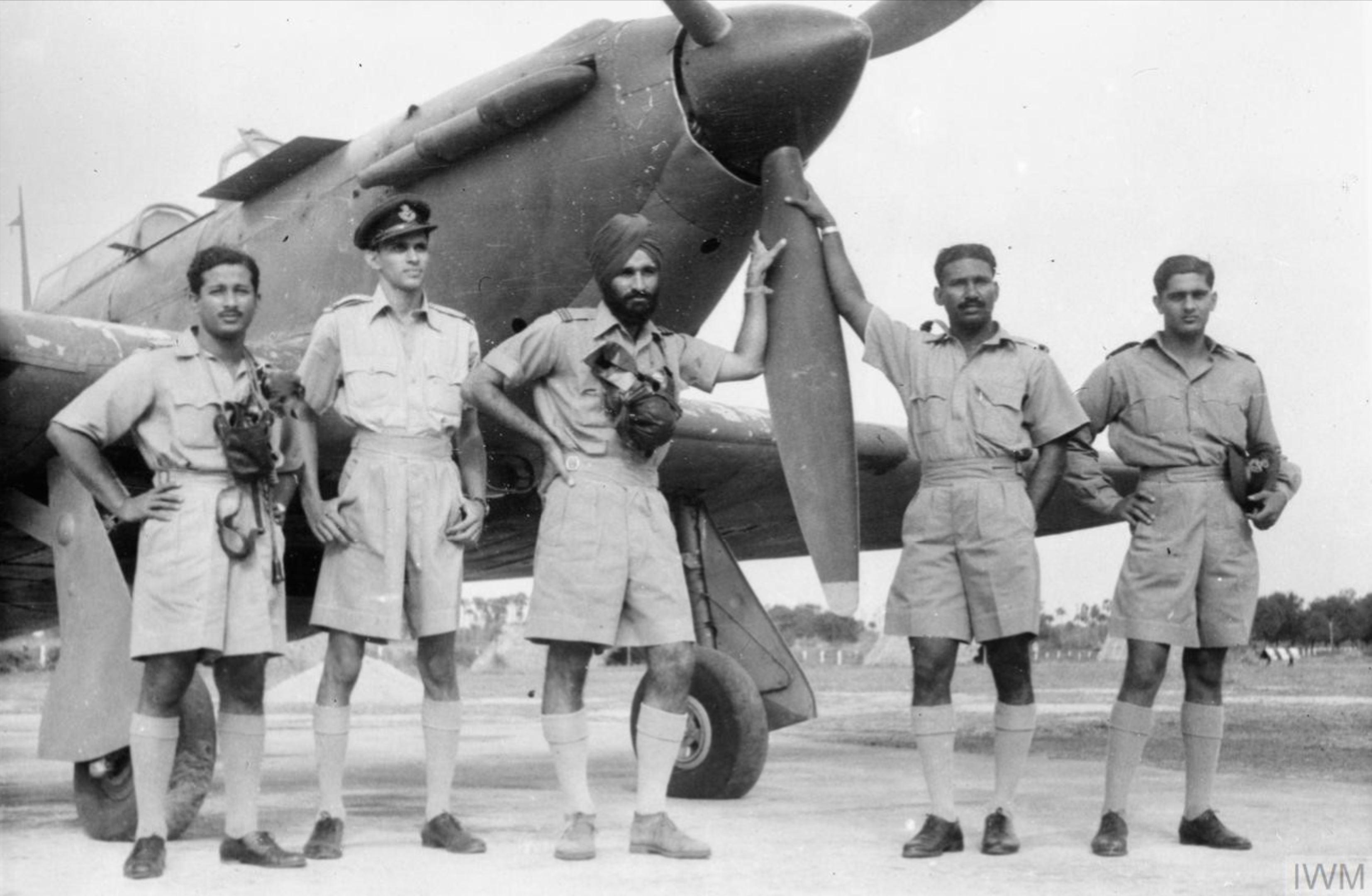 Hurricane IIb RIAF 1Sqn at Imphal Main India IWM CI75