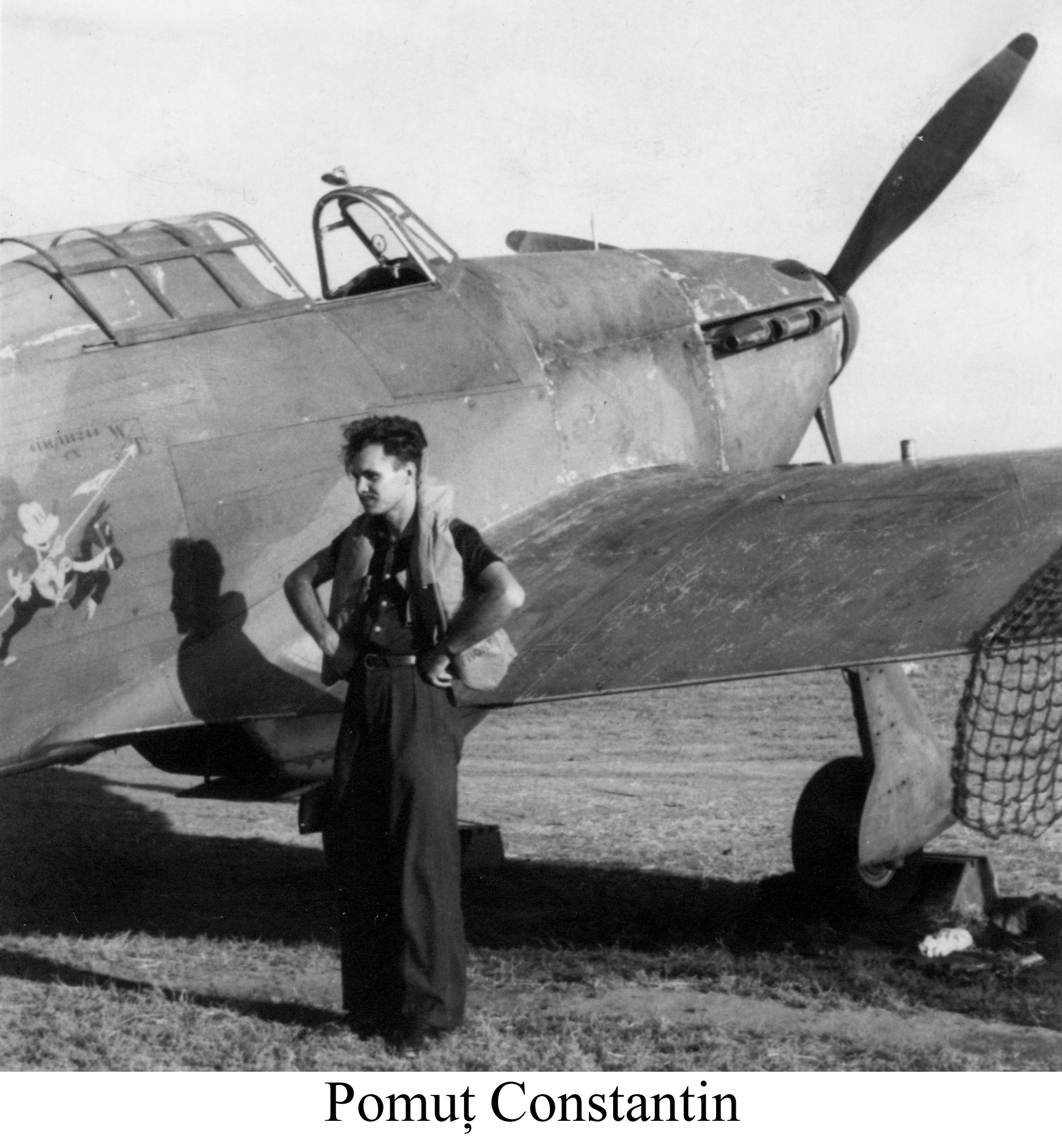 Aircrew Romanian pilot Constantin Pomut MkI Hurricane 01