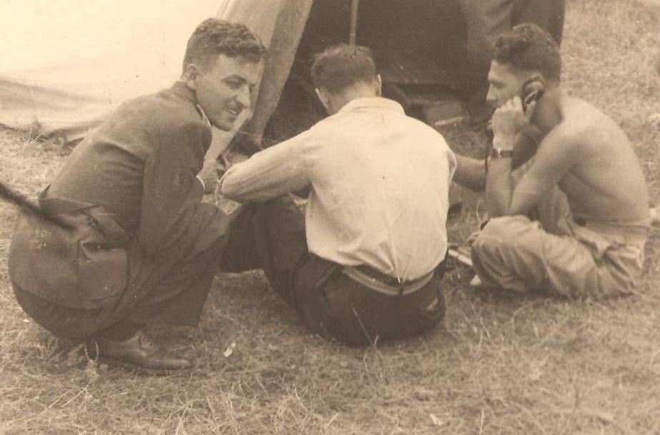 Aircrew Romanian pilot Petre Cordescu showing field communications during the war Romania 04