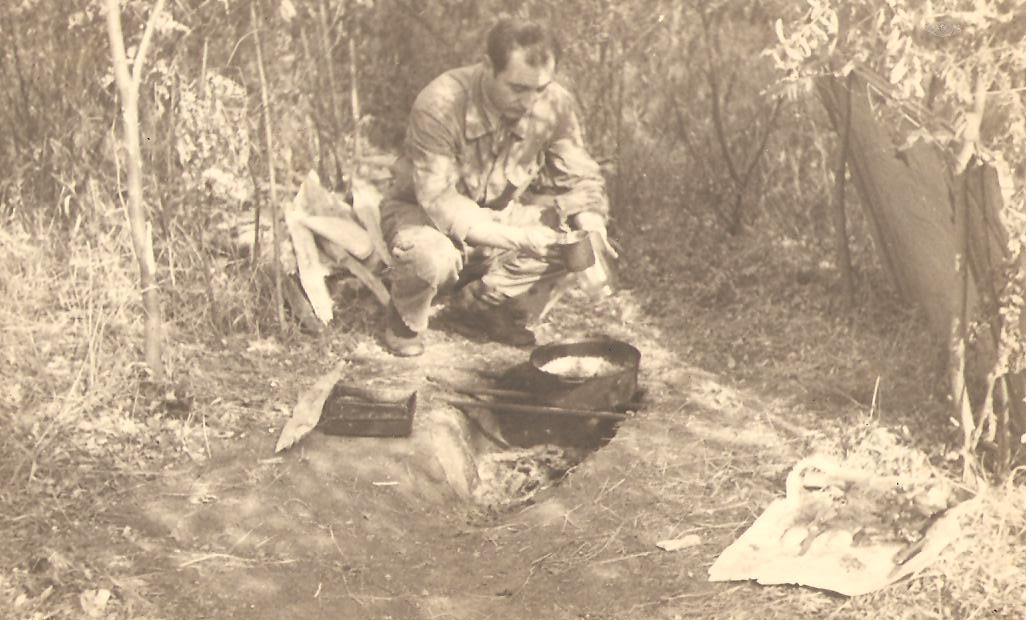 Aircrew Romanian pilot Petre Cordescu showing living conditions during the war Romania 01
