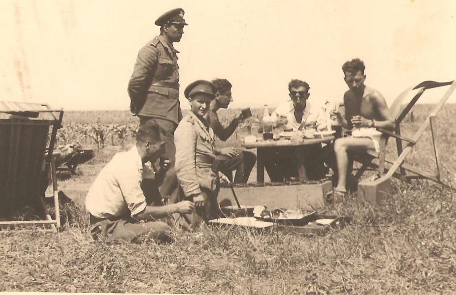 Aircrew Romanian pilot Petre Cordescu showing living conditions during the war Romania 02