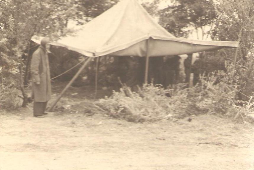 Aircrew Romanian pilot Petre Cordescu showing living conditions during the war Romania 04