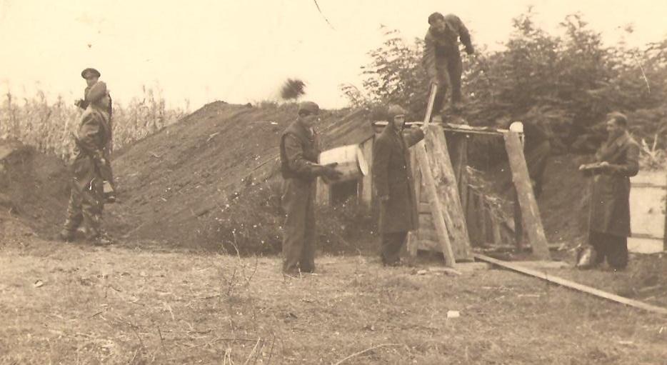 Aircrew Romanian pilot Petre Cordescu showing living conditions during the war Romania 05