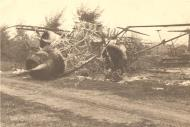 Asisbiz RRAF burnt out aircraft destroyed by Luftwaffe Rumania 1941 Petre Cordescu collection 01