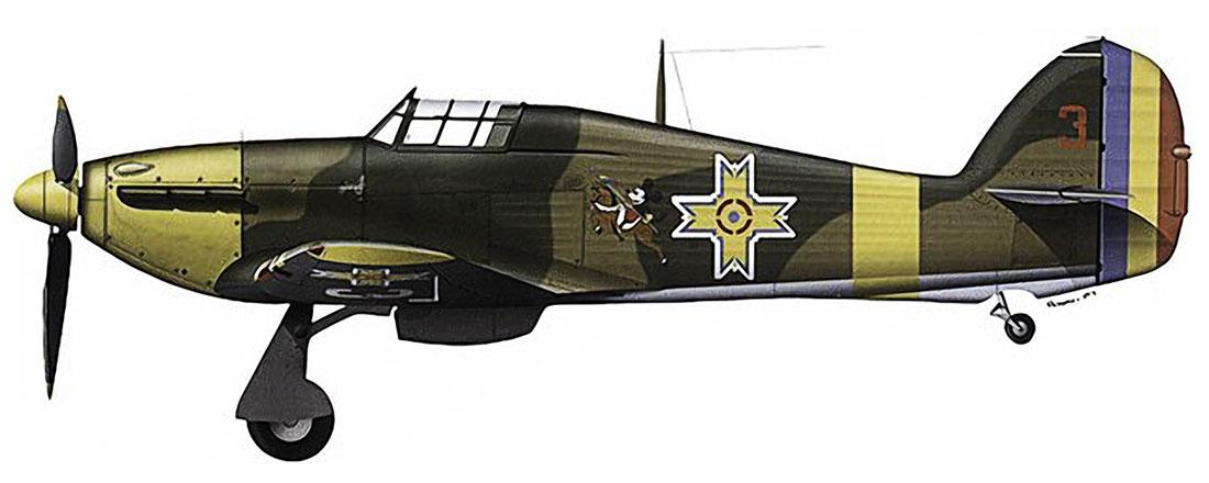 Hawker Hurricane Rumanian AF Esc 3.53 Red 3 Horia Agarici Rumania June 1941 0A