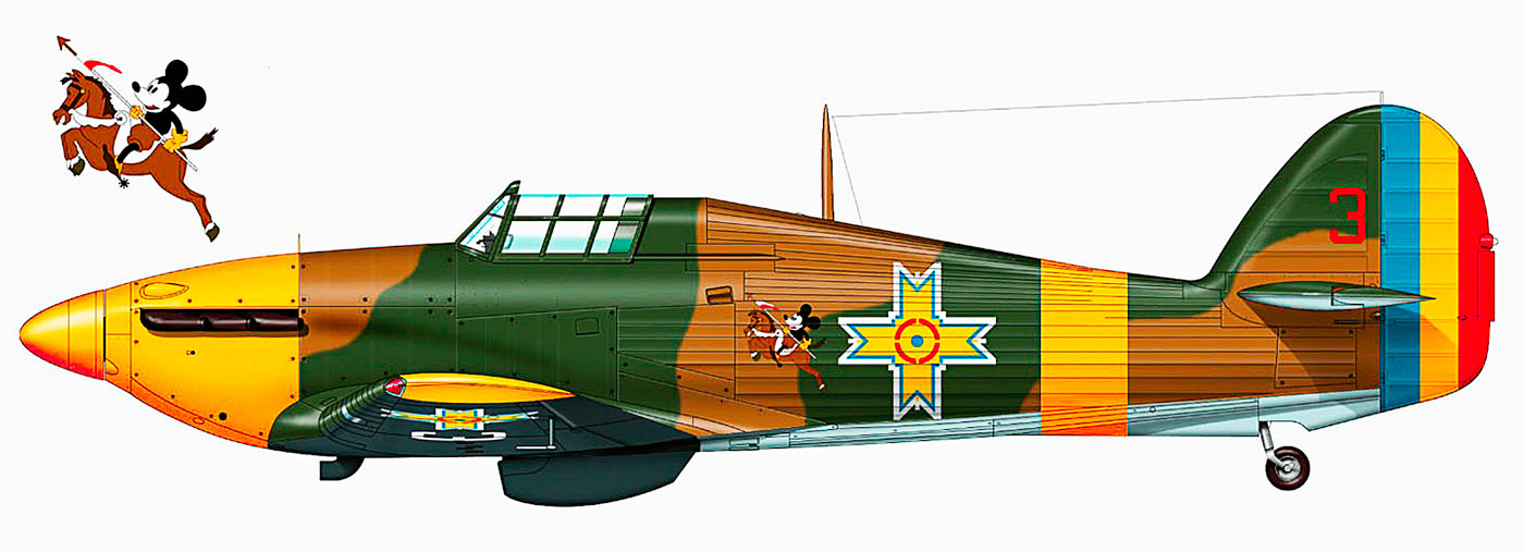 Hawker Hurricane Rumanian AF Esc 3.53 Red 3 Horia Agarici Rumania June 1941 0C