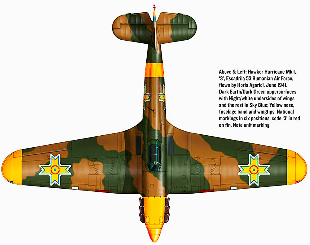 Hawker Hurricane Rumanian AF Esc 3.53 Red 3 Horia Agarici Rumania June 1941 0D