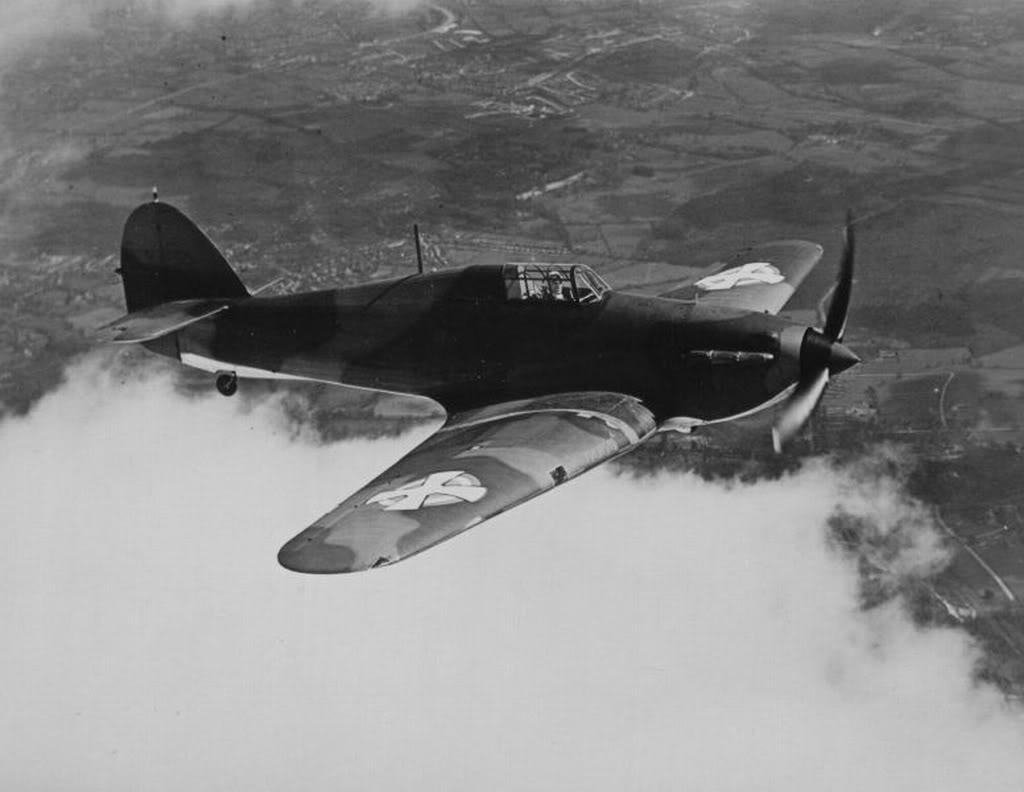 Hawker Hurricanes I Yugoslav Royal Air Force RYAF in flight 1941 01