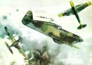 Asisbiz A painting of the Yugoslav Royal Air Force RYAF in combat with the Luftwaffe 0A