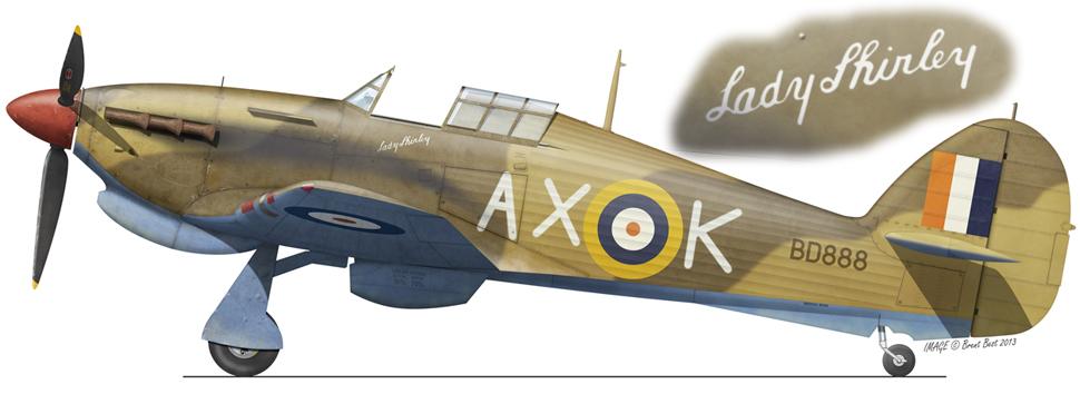 Hawker Hurricane IIb SAAF 1Sqn AXK Peter Meterlekamp BD888 LG15 Egypt Jun 1942 0A