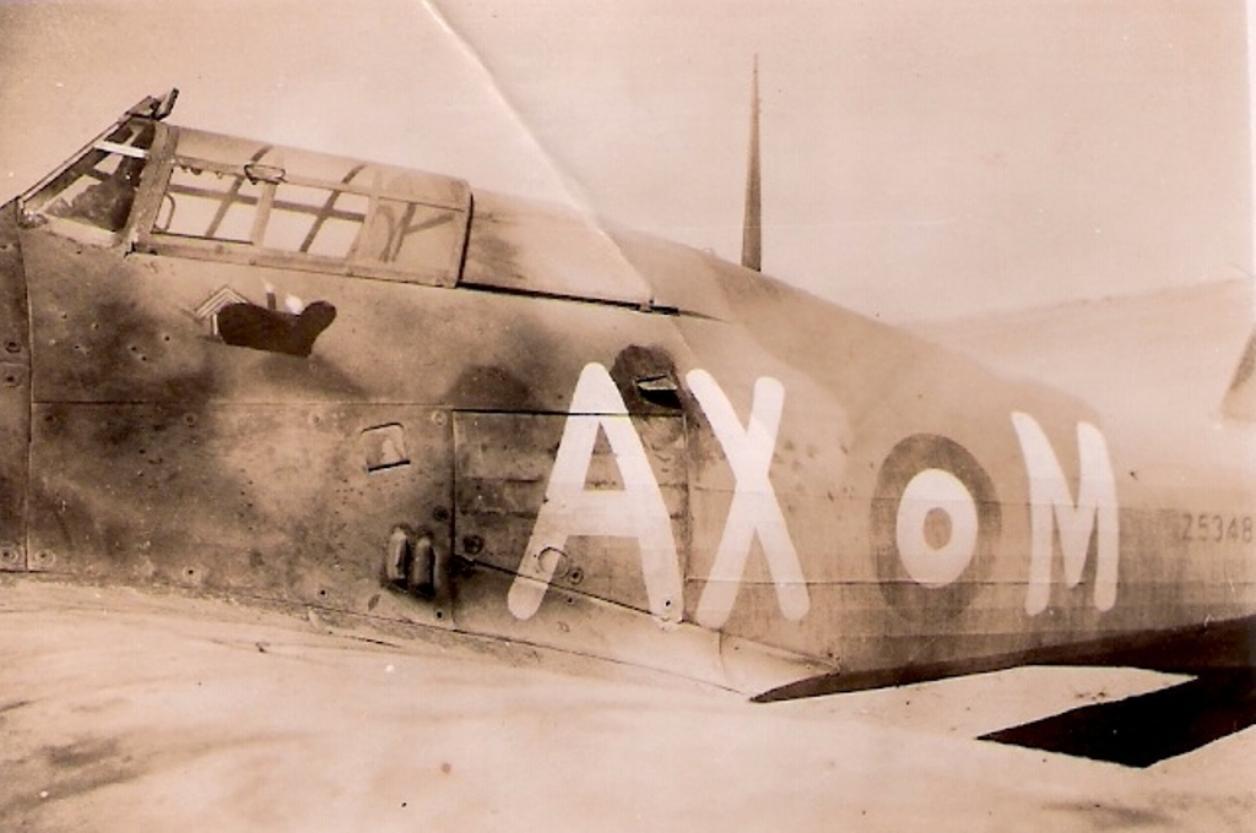 Hawker Hurricane IIb SAAF 1Sqn AXM Jerks Maclean Z5348 1942 02