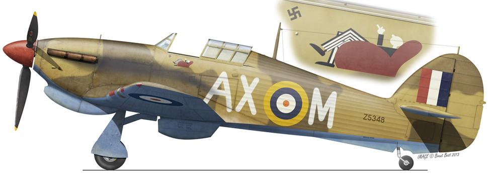Hawker Hurricane IIb SAAF 1Sqn AXM Jerks Maclean Z5348 LG92 Egypt Jul 1942 0A