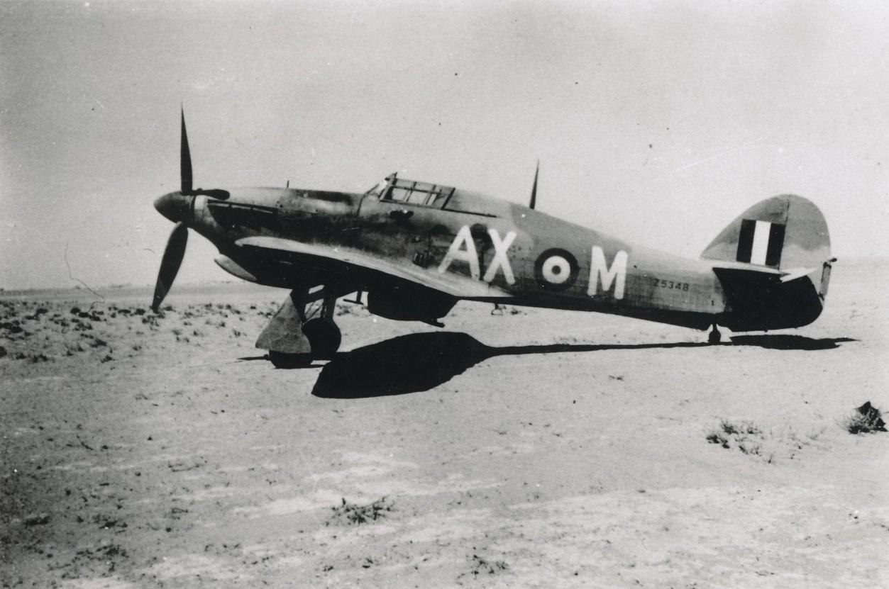 Hawker Hurricane IIb SAAF 1Sqn AXM Jerks Maclean Z5348 at LG92 Jul 1942 01