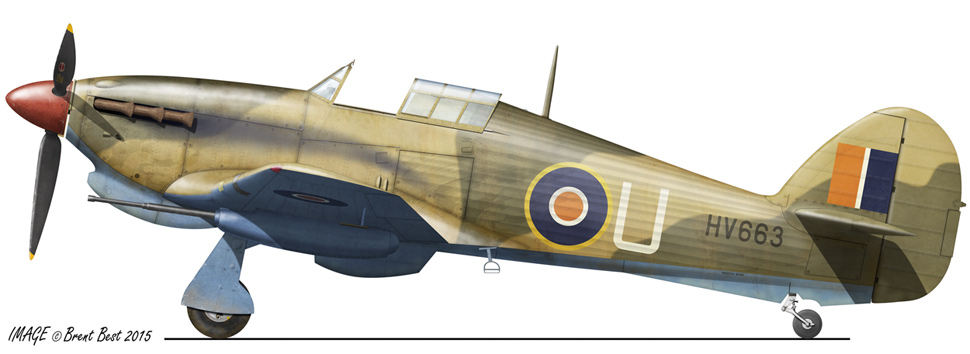 Hawker Hurricane IId SAAF 7Sqn U HV663 LG89 Egypt Oct 1942 0A