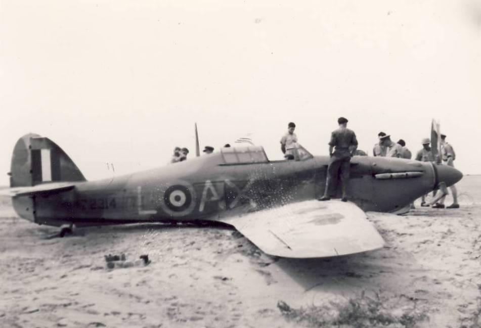 Hurricane IIb SAAF 1Sqn AXL Fred Schofield Z2314 El Gamil 18th May 1942 01