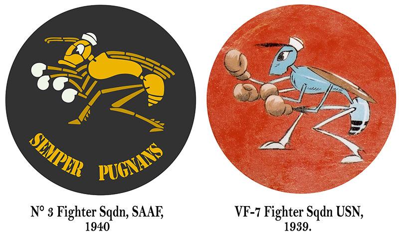 Artwork SAAF 3 Sqdn East Africa emblem very similar to the USN VF 7 badge 0A