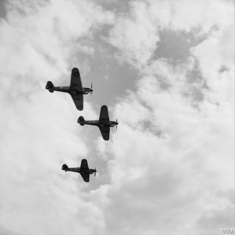 Hawker Hurricane Is SAAF 3Sqn taking off from Addis Ababa Abyssinia IWM E3412