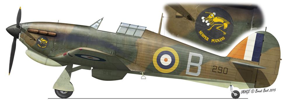 Hurricane I Trop SAAF 3Sqn B 290 Lt Albertus Venter Addis Abeba Abyssinia May 1941 0A