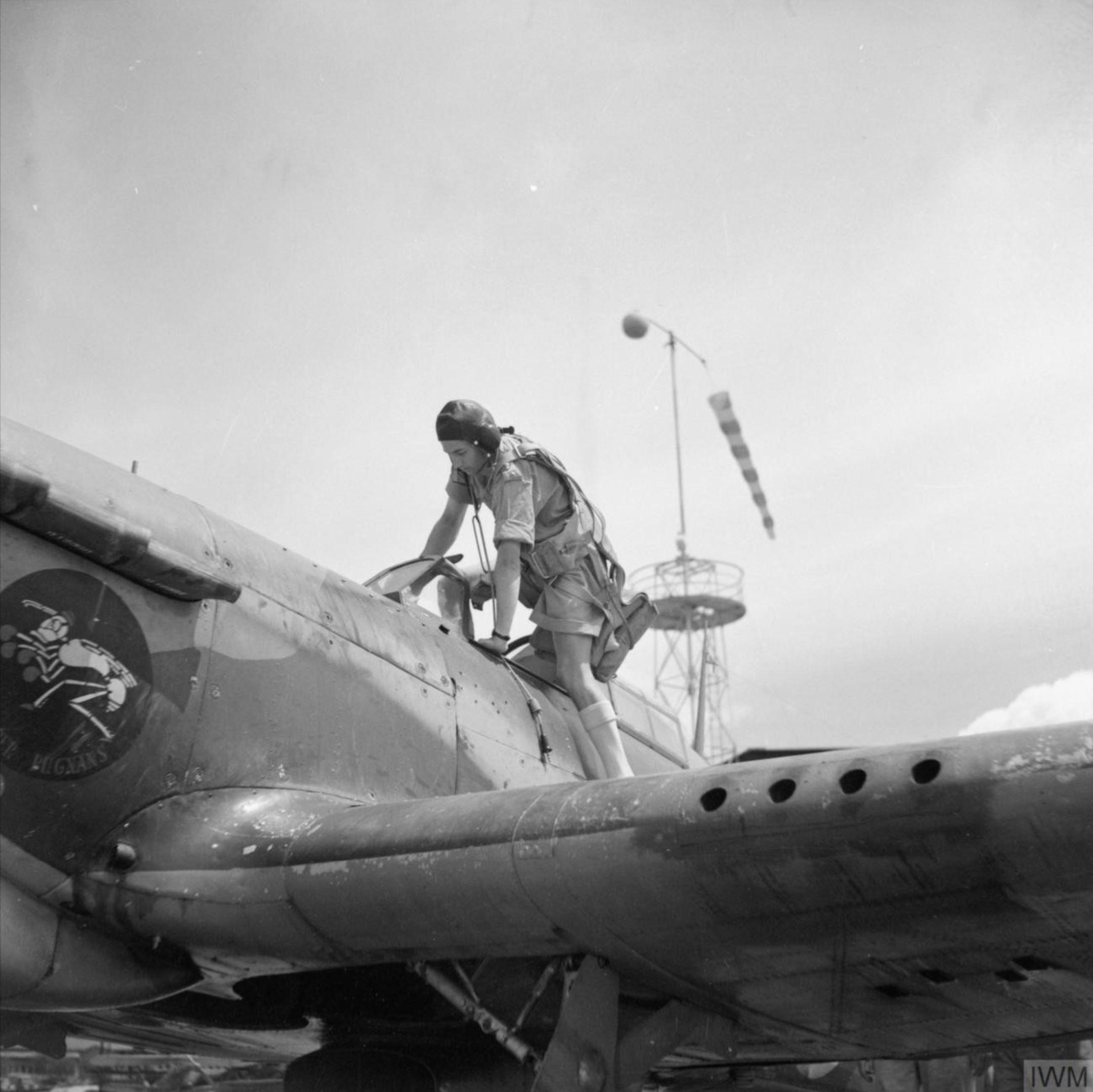 Hurricane I Trop SAAF 3Sqn Capt JE Jack Frost Addis Ababa Ethiopia East Africa March 1941 IWM E3410