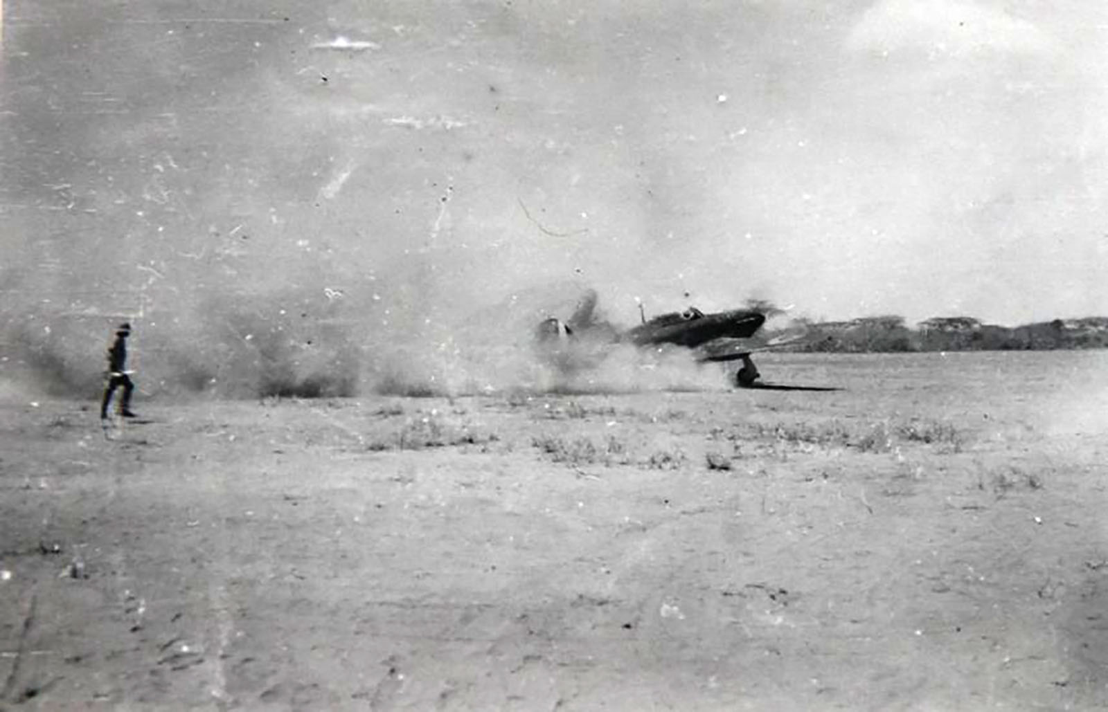 Hurricane I Trop SAAF 3Sqn unknown aircraft taxing Ethiopia East Africa March 1941 02