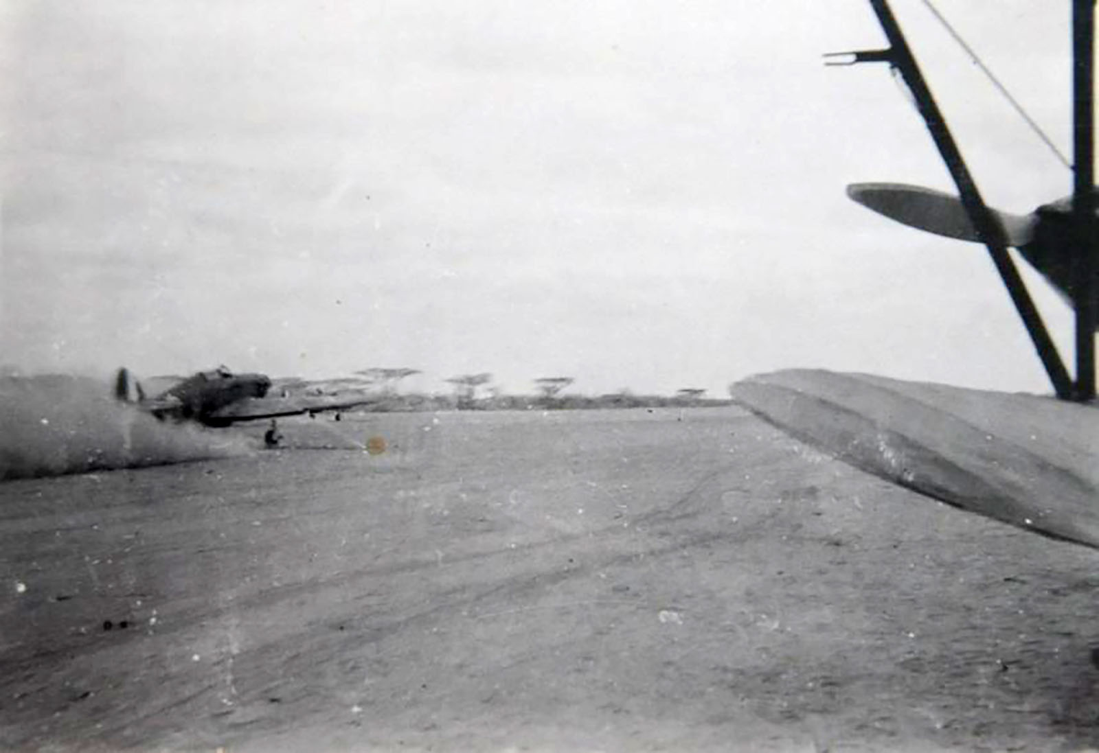 Hurricane I Trop SAAF 3Sqn unknown aircraft taxing Ethiopia East Africa March 1941 03