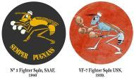 Asisbiz Artwork SAAF 3 Sqdn East Africa emblem very similar to the USN VF 7 badge 0A