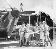 Asisbiz Hurricane I Trop SAAF 3Sqn Major J D Pretorius briefs his pilots at Addis Ababa 01