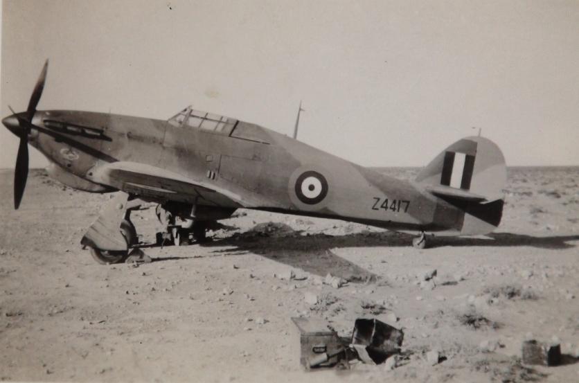 Hawker Hurricane IIb SAAF 40Sqn Z4417 with unknown Gremlin North Africa 1942 43 01