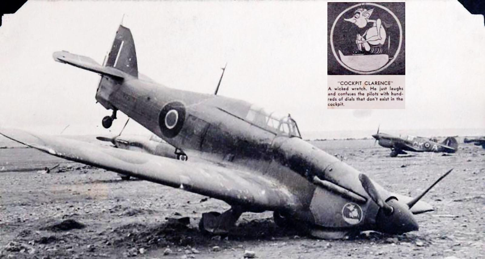 Hawker Hurricane IIb SAAF 40Sqn x23xx with Gremlin Cockpit Clearence North Africa 1942 43 01