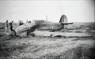 Asisbiz Hurricane I SAAF 40Sqn Z4249 Lt JW Van Niekerk belly landed nr Gabr El Aleima Libya 10th Apr 1942 KIA 01
