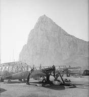 Asisbiz Fleet Air Arm 779NAS Seafire Z MB348 at NAS Gibralter HMS Cormorant II Jan 1944 IWM A21936